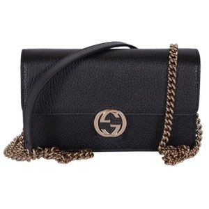 Gucci Black Shoulder Clutch Wallet On Chain 510314